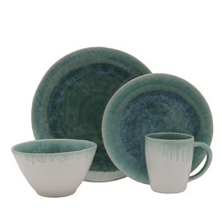 Mikasa Aventura Green Stoneware 4-piece Place Setting (Service for 1)