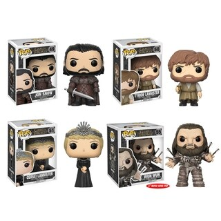 Funko POP! Game of Thrones Collectors Set; Jon Snow, Tyrion, Cersei, Wun Wun w/ Arrows