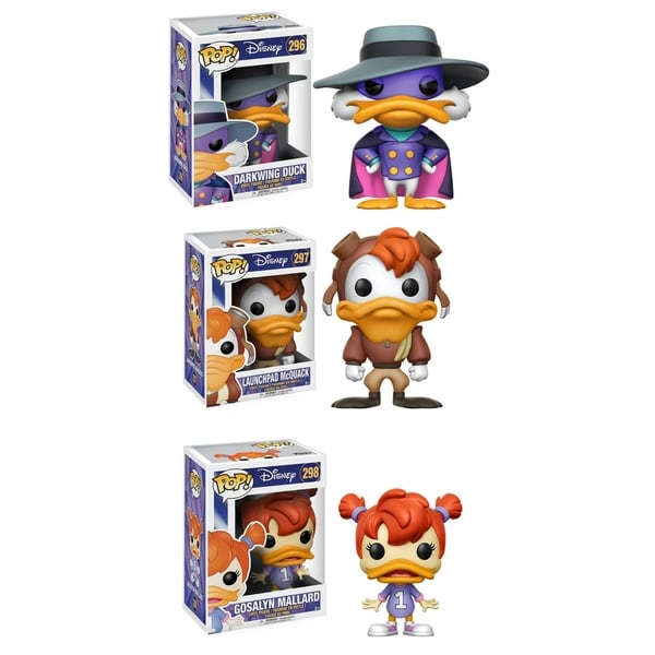 Funko Disney POP! Darkwing Duck Collectors Set; Darkwing Duck, Launchpad McQuack, Gosalyn Mallard