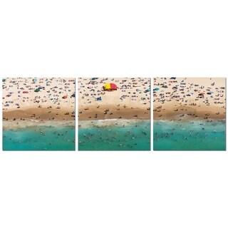 "Elementem Photography: ""Coogee Beach"" Photography Print 3-Panel Panoramic Wall Art"