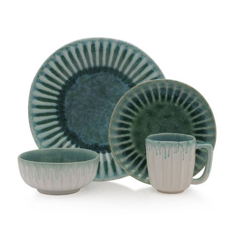 Mikasa Monterey Green Stoneware 4-piece Place Setting (Service for 1)