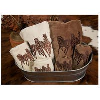 Hiend Accents Embroidered 3-Horse Towel Set 3-Piece