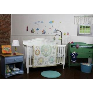 Nurture Circles and Twill Cotton 3-piece Bedding Set