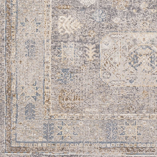 "Willoby Vintage Oriental Charcoal Area Rug (7'10 x 10'3) - 7'10"" x 10'3"""