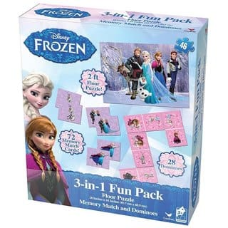 Disney's Frozen 3-in-1 Puzzle, Dominoes, Floor Memory Match Game|https://ak1.ostkcdn.com/images/products/17096233/P23367124.jpg?impolicy=medium