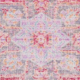 "Janson Vintage Medallion Bright Pink Area Rug (7'10 x 10'3) - 7'10"" x 10'3"""