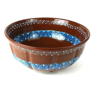 Handcrafted Large Serving Bowl - Chocolate (Mexico)