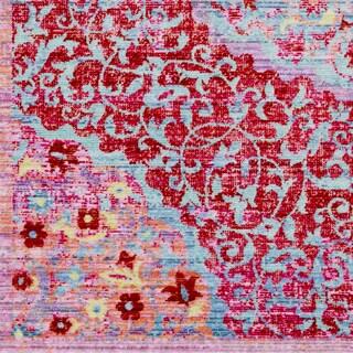 "Viocla Bright Pink Bohemian Medallion Area Rug - 7'10"" x 10'3"""