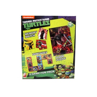 Teenage Mutant Ninja Turtles 3-in-1 Puzzle, Dominoes, Floor Memory Match Game