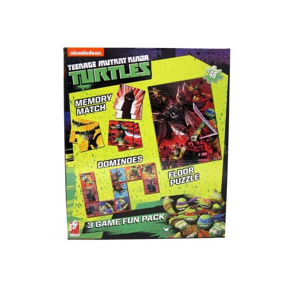 Teenage Mutant Ninja Turtles 3-in-1 Puzzle, Dominoes, Floor Memory Match Game