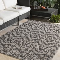 Atacama Casual Ikat Medium Grey Area Rug - 7'10 x 10'3