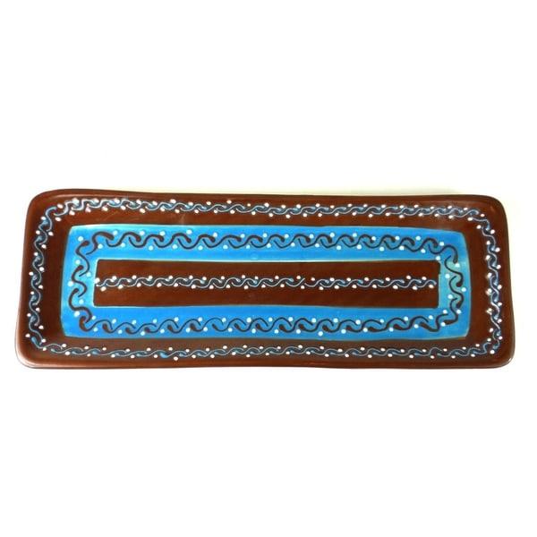 Handmade Long Serving Platter - Chocolate (Mexico)