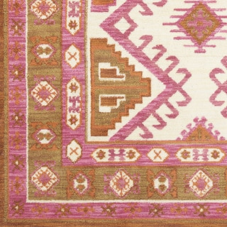 Ezrah Traditional Rose Southwestern Area Rug (9' x 12') - 9' x 12'