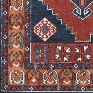 "Inez Traditional Southwestern Burnt Orange Area Rug (7'6 x 9'6) - 7'6"" x 9'6"""