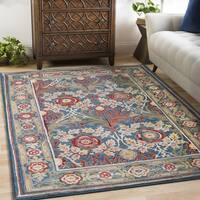 Lois Blue Vintage Floral Area Rug (9'0 x 12'3)