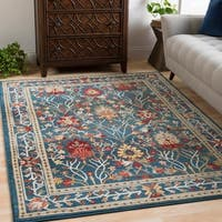 William Blue Rustic Vintage Area Rug (7'10 x 9'10)