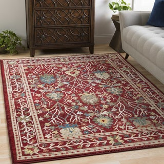 William Red Rustic Vintage Area Rug (9'0 x 12'3) - 9' x 12'3""