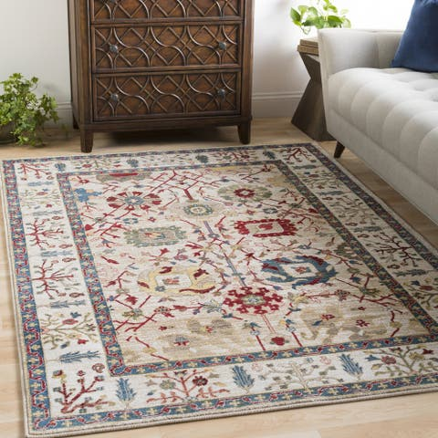 "Gracewood Hollow Matrenga Multicolored Border Area Rug - 8'10"" x 12'4"""