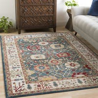 Jones Blue & Ivory Vintage Vines Area Rug - 9' x 12'3