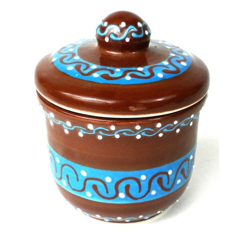 Handcrafted Sugar Bowl - Chocolate (Mexico) ()