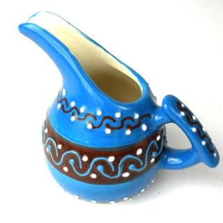 Handcrafted Mini Creamer - Azure Blue (Mexico)