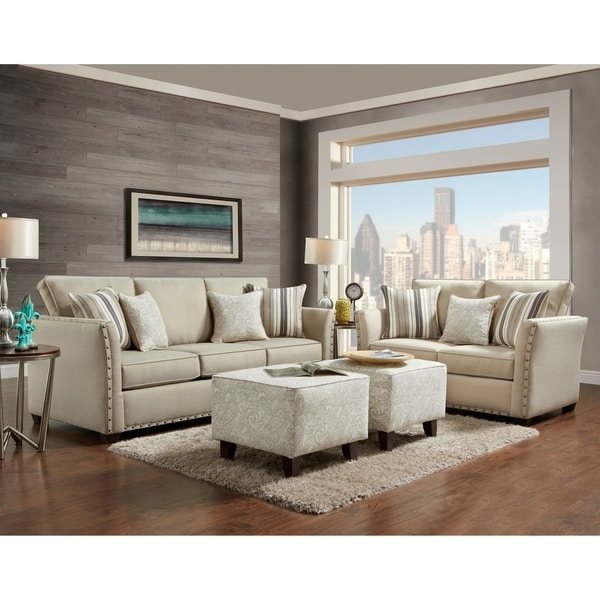 Clay Alder Home Mullica 4 Piece Set Sofa Loveseat And 2 Ottomans