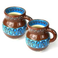 Handmade Set of Two Beaker Cups (Mexico)