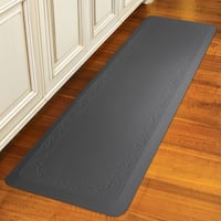 "SmartStep Home Collection FLEUR-DE-LYS 72"" X 20"" X 5/8"" - GRAY"
