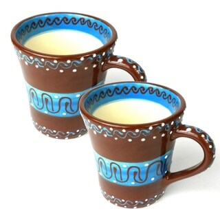 Handmade Set of Two Flared Cups (Mexico)
