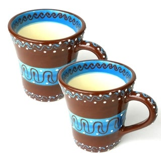 Set of Two Handmade Flared Cups - Chocolate (Mexico)