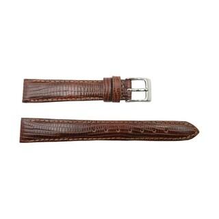 Brown Genuine Leather Lizard Grain Semi-Gloss Watch Band (12mm to 22mm)