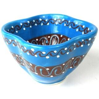 Handmade Dip Bowl - Azure Blue (Mexico)