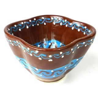 Handcrafted Dip Bowl - Chocolate (Mexico)