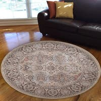 Gallina Panel Beige Area Rug By Admire Home Living - 5'3 round