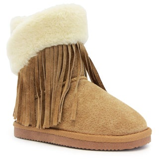 Lamo Girls Fringe Wrap Kids Boot