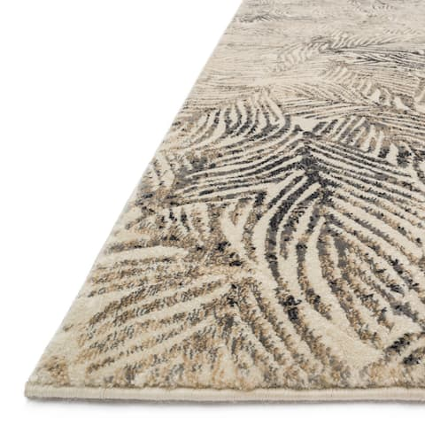 "Alexander Home Phaedra Mid-Century Modern Abstract Leaf Rug - 2'3"" x 8' Runner"