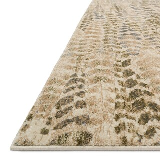 "Alexander Home Phaedra Leaf Abstract Sage/Beige Mid-century Rug - 2'3"" x 8'"