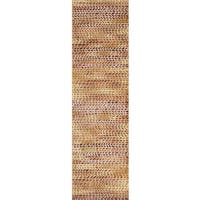 Phaedra Abstract Orange/ Sunset Rug - 2'3 x 10'