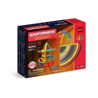 Magformers Curve 50 Piece Magnetic Construction Set