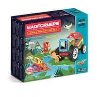 Magformers Adventure Jungle 32 Piece Magnetic Construction Set