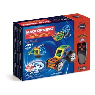 Magformers Funny Wheel 20 Piece Magnetic Construction Kit