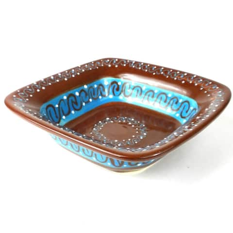 Handmade Flared Serving Bowl - Chocolate (Mexico)