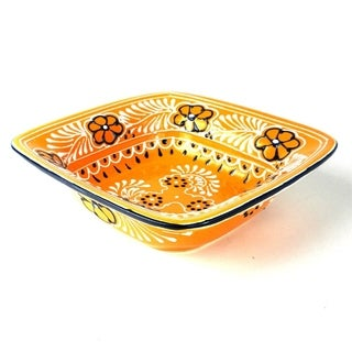 Handmade Flared Serving Bowl - Mango (Mexico)