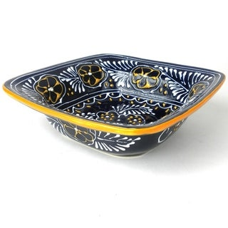 Handmade Flared Serving Bowl - Blue (Mexico)