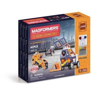 Magformers XL Double Cruiser 42 Piece Magnetic Construction Kit