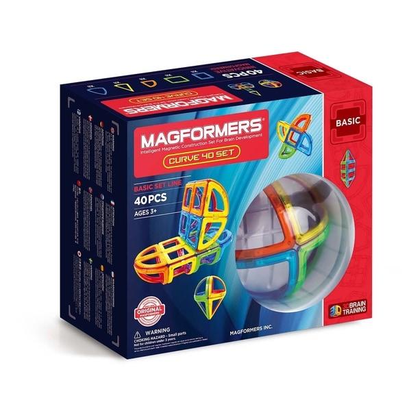 Magformers Curve 40 Piece Magnetic Construction Set