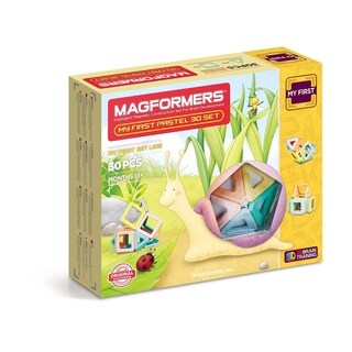 Magformers My First Pastel Set 30 Piece Magnetic Construction Kit