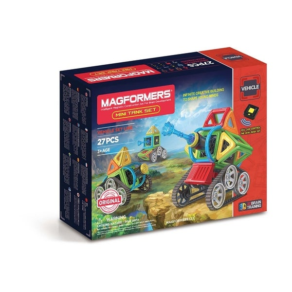 Magformers Mini Tank 27 Piece Magnetic Construction Kit
