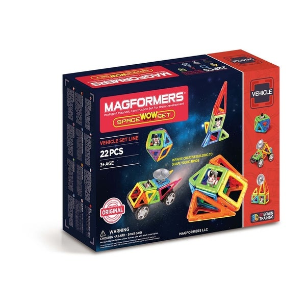 Magformers Space Wow 22 Piece Magnetic Construction Kit