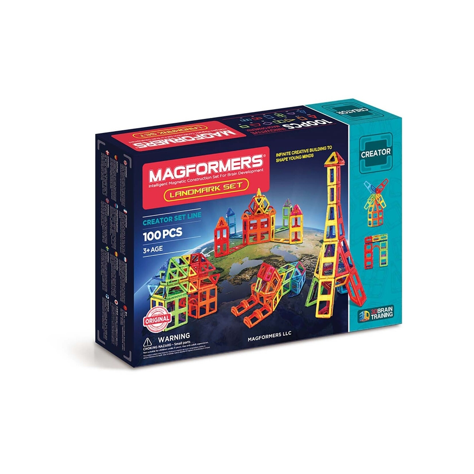 Magformers Landmark 100 Piece Magnetic Construction Set, ...